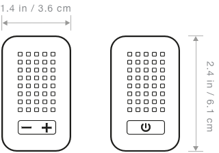 LaMetric Time tech specs, which shows its' width and height