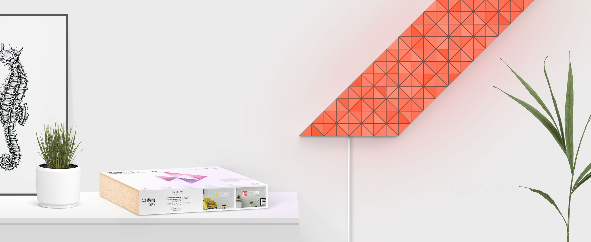LaMetric SKY smart light surfaces express that the product works out of the box