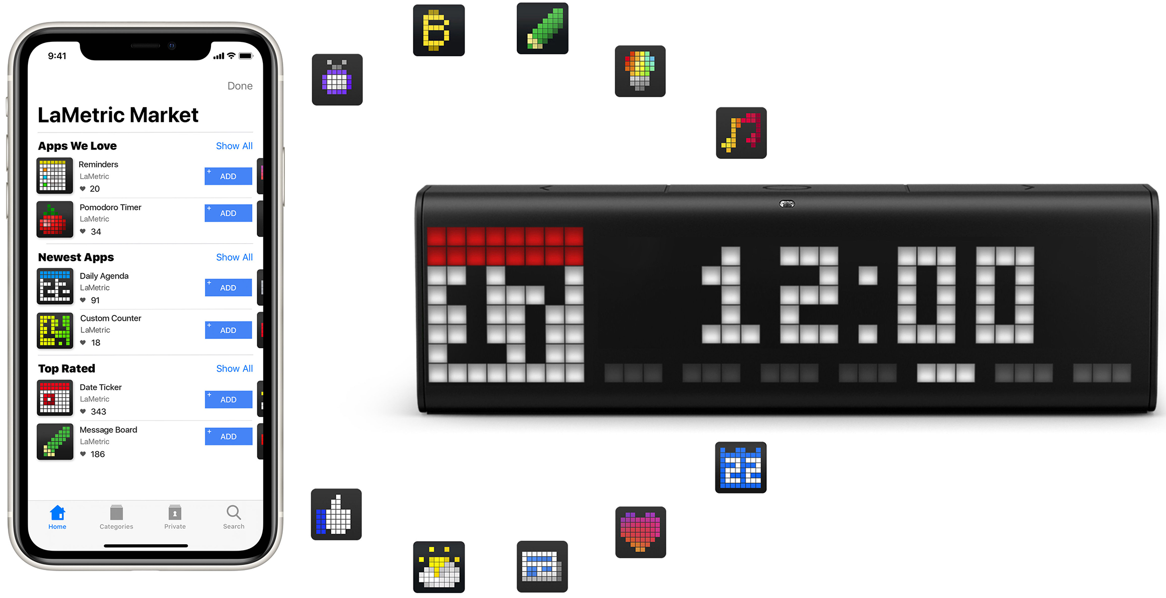 LaMetric Market with apps