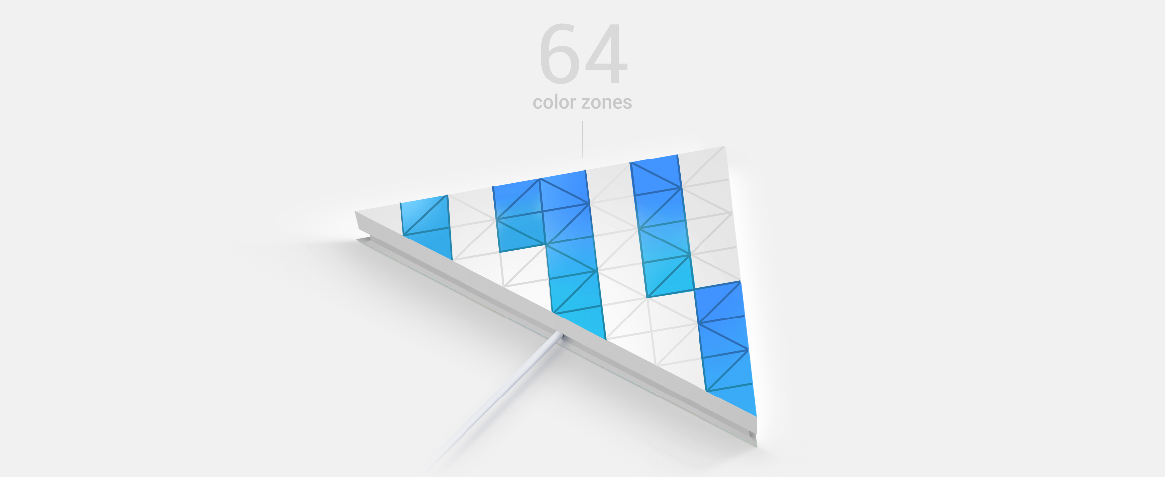 LaMetric SKY smart light surface with 64 color zones