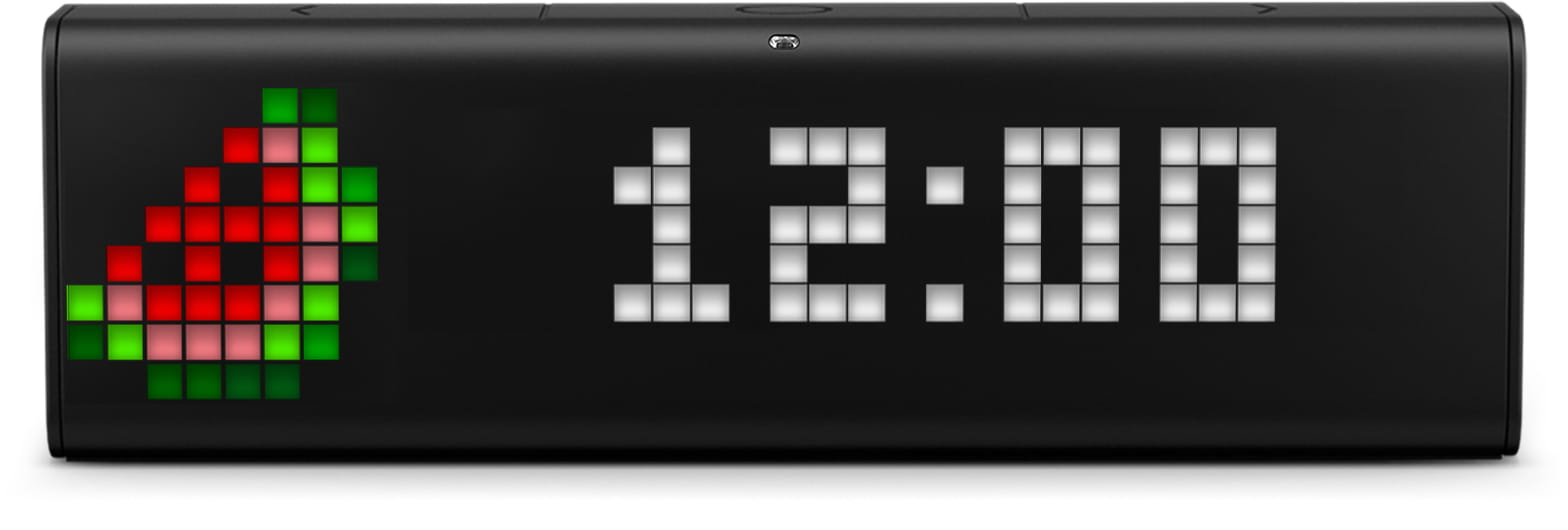 LaMetric Time smart clock shows time and watermelon clock face